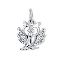 Brilio Silver Bagoly ezüst medál kristályokkal 446 001 00234 04 - 0,95 g ezüst 925/1000