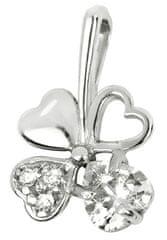 Brilio Silver Ezüst lóhere medál 446 001 00349 04 - čirý - 0,43 g ezüst 925/1000