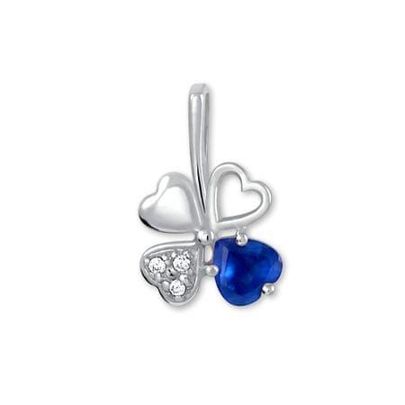 Brilio Silver Ezüst lóhere medál 446 001 00349 04 - kék - 0,43 g ezüst 925/1000