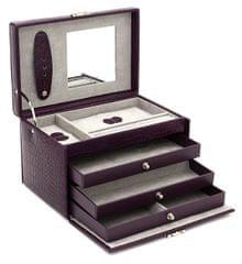 Friedrich Lederwaren Šperkovnica fialová / sivá Classico 23236-56