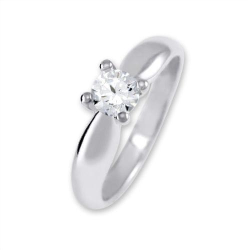 Brilio Silver Stříbrný zásnubní prsten 426 001 00401 04 - 2,35 g 57 mm