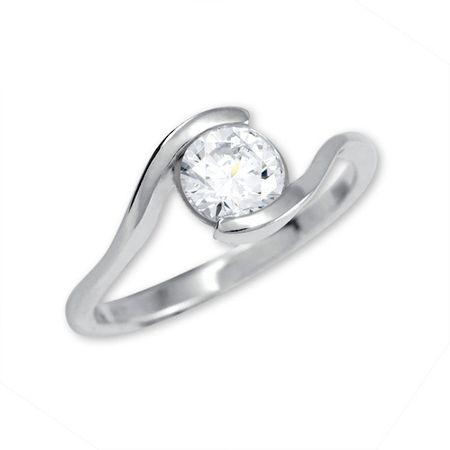 Brilio Silver Strieborný zásnubný prsteň 426 001 00422 04 - 1,98 g (Obvod 54 mm) striebro 925/1000