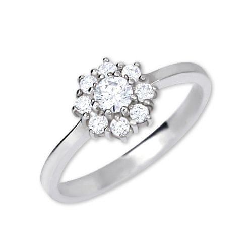 Brilio Silver Stříbrný zásnubní prsten 426 001 00432 04 - čirý - 2,30 g 54 mm