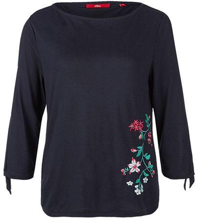 s.Oliver Dámske tričko 14.803.39.7315.59L0 Navy Embroidery (Veľkosť 34)