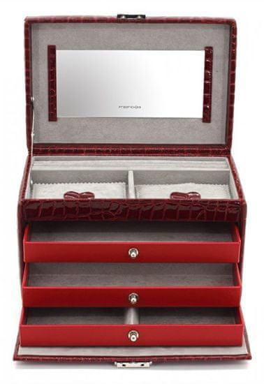 Friedrich Lederwaren Vino škatla za vino / siva z vzorcem krokodila Jolie 23254-40