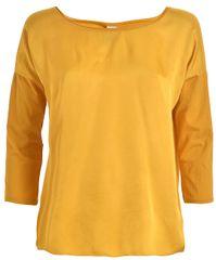 Deha Sleeve Lenght Top női 3/4 ujjú póló D73070 Curcuma Yellow