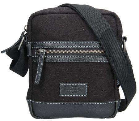 Lagen Pánská taška přes rameno 22409 BLACK GREY  b04141f46b9