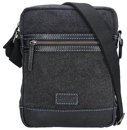 Lagen Pánska taška cez rameno 23306 BLACK
