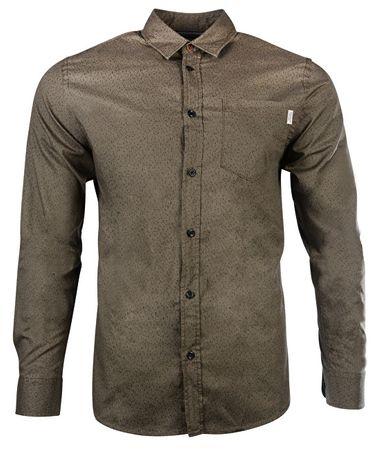 Jack&Jones Pánská košile Jorstroke Shirt Ls Cordovan (Velikost S)