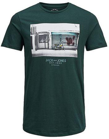 Jack&Jones Pánske tričko Jorlever Tee Ss Crew Neck Ponderosa Pine (Veľkosť S)