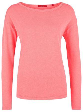 s.Oliver Dámske tričko 14.801.31.6096 .0093 Neon Rubine (Veľkosť 32)