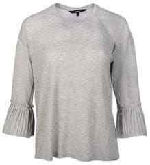 Vero Moda Dámske tričko Jakuri 3/4 Cuff Frill Top D2-2 Light Grey Melange Melange