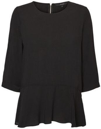 Vero Moda Női blúz Boca 3/4 Frill Top Noos Fekete (méret XS)