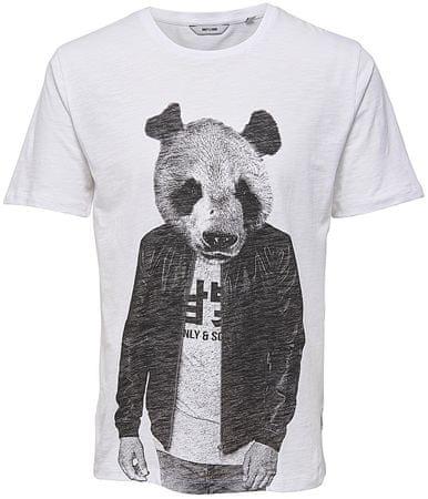 ONLY&SONS Pánske tričko Simon Funnyprint Ss Tee Bright White (Veľkosť S)