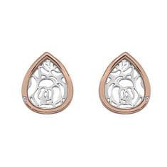 Hot Diamonds Bicolor náušnice Hot Diamonds Luxury DE529 stříbro 925/1000