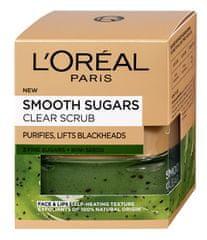 L'Oréal Tisztító arcradír kivimagokkal mitteszerek ellen (Smooth Sugars Clear Scrub) 50 ml