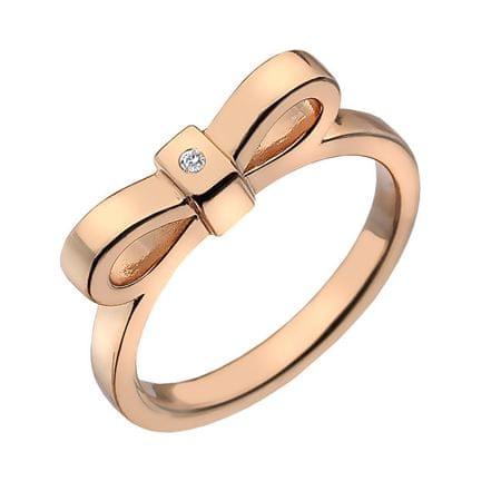 Hot Diamonds Pierścień bicolor Hot Diamonds Miłość DR197 (obwód 51 mm) srebro 925/1000