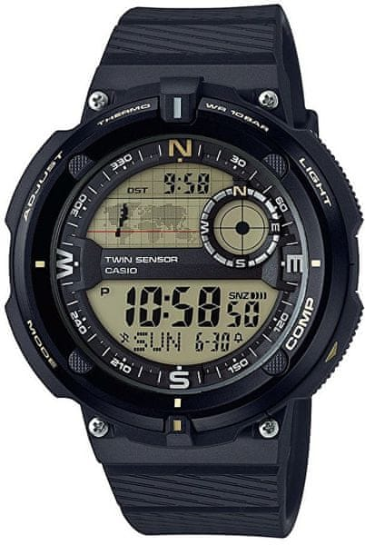 Casio SGW 600H-9A s teploměrem, kompasem a světovým časem