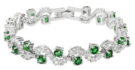 Troli Csillogó zöld kristály karkötő