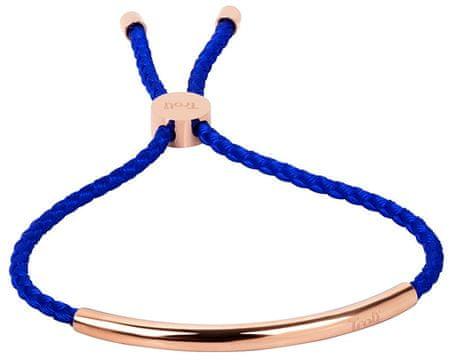 Troli A csipke royal kék karkötő rózsaszín aranyozott acél díszítéssel