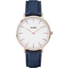 Cluse La Bohème Rose Gold White/Blue Denim CL18025