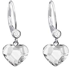 Preciosa Náušnice Lil s čirými krystaly 6101 00 stříbro 925/1000