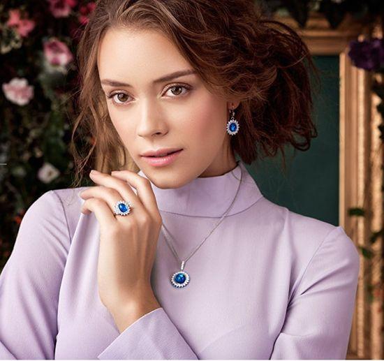 Preciosa Srebrny naszyjnik Camellia 6106 63 srebro 925/1000