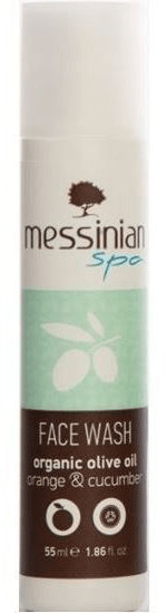 Messinian Spa Mycí gel na obličej okurka & pomeranč 55 ml