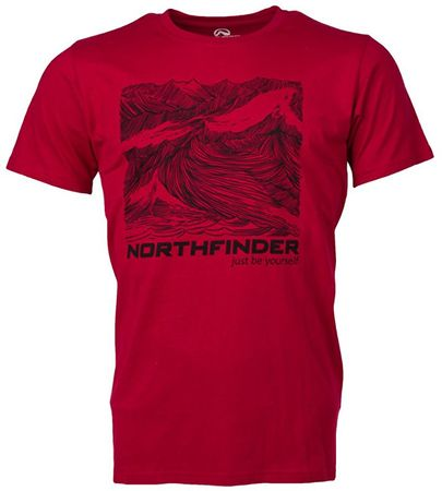 Northfinder Pánské triko Maxim Darkred TR3283SII-307 (Velikost XL)