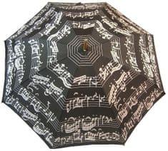 Blooming Brollies Holový deštník Black Music Notes LRWP877/BM