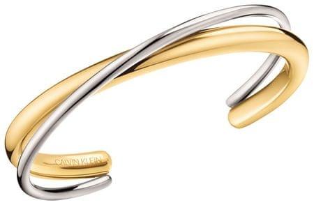 Calvin Klein Pevný bicolor náramek Double KJ8XJF2001 (Rozměr S (5,8 x 4,6 cm))