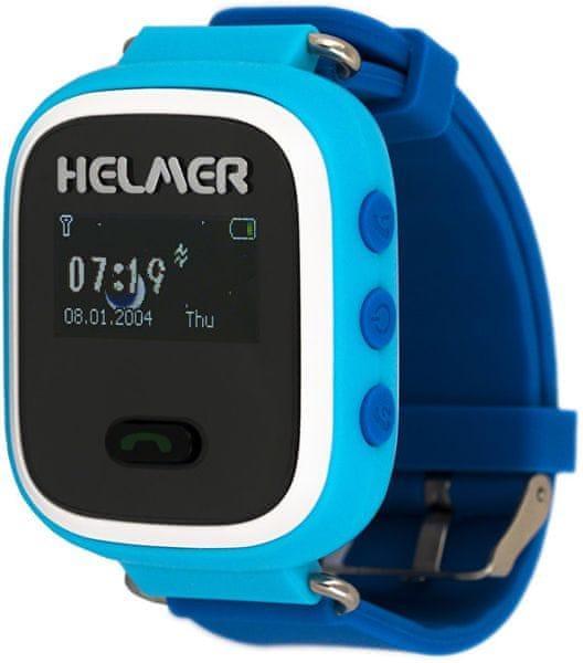 Helmer Chytré hodinky s GPS lokátorem a SIM kartou GoMobil s kreditem 50 Kč LK 702 modré