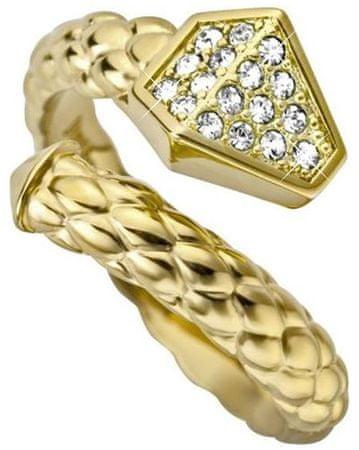 Just Cavalli Luxusní hadí prsten Just Glam JCRG000102 (Obvod 56 mm)