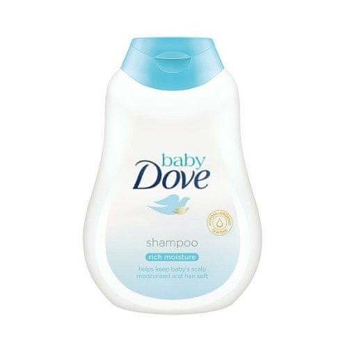 Dove Jemný šampon pro děti Baby (Rich Moisture Shampoo) (Objem 200 ml)