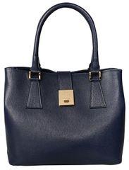 J&C JACKYCELINE Dámská kožená kabelka Borsa Pelle S16B301-09-014 Dark Blue