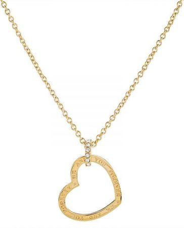 Guess Pozlátený srdiečkový náhrdelník UBN82060