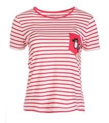 ROXY Dámske tričko Bahamas Cottage B Rouge Red Basic B ico Stripe s ERJZT04181-MLJ3