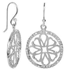 Brilio Silver Ozdobné náušnice s krystaly 436 154 00202 - 4,80 g stříbro 925/1000
