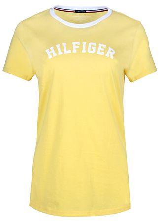 Tommy Hilfiger Dámske tričko Ss Tee Print Yellow Cream UW0UW00091 ... 69673b30de9