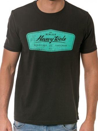 Heavy Tools Pánské triko Medley S18-302 Graphite (Velikost M)
