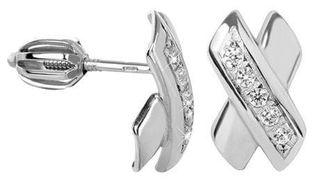 Brilio Silver Štýlové náušnice s kryštálmi 436 001 00424 04 - 1,66 g striebro 925/1000