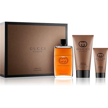 Gucci Guilty Absolute - EDP 90 + balzám po holení 50 ml + sprchový gel 150 ml