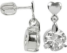 Brilio Silver Stříbrné náušnice s velkým krystalem 436 001 00409 04 - 3,26 g stříbro 925/1000