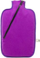 Hugo Frosch Termofor Eco Classic Comfort se softshellovým obalem na zip - fialový