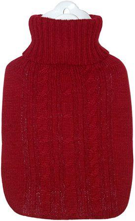 Hugo Frosch Termofor Classic s pleteným obalem - červený