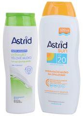 Astrid Hydratačné mlieko na opaľovanie OF 20 400 ml + Vyživujúce telové mlieko 250 ml
