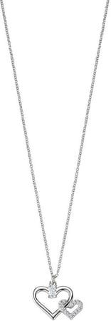 Morellato Stříbrný náhrdelník Spojené srdce Cuori SAIV22 (řetízek, přívěsek) stříbro 925/1000