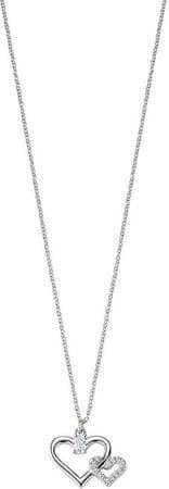Morellato Stříbrný náhrdelník Spojené srdce Cuori SAIV22 stříbro 925/1000