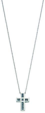 Morellato Oceľový náhrdelník s kryštálmi Křížek Rocce SALS06