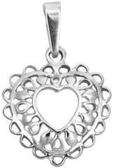 Brilio Silver Ezüst filigrán szív medál 441 001 02 024 04-1,07 g ezüst 925/1000